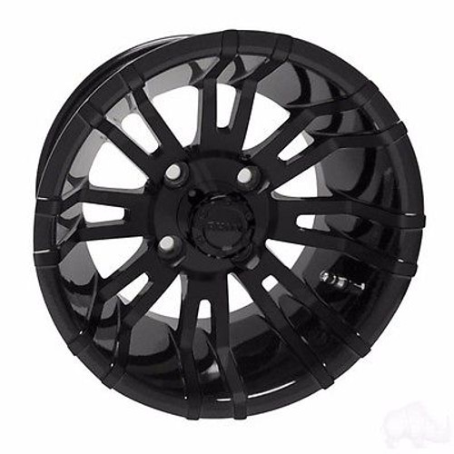 Club Car DS Golf Cart Wheels, Tires & Lift Package Rims RX271  Black 12""