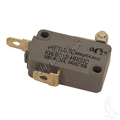 Micro Switch, 2 terminal, E-Z-Go 4-cycle Gas 94+, Electric 94+ Non-DCS