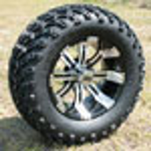Set Of (4) 12'' Tempest Wheels On A/T Tires (Lift Required)
