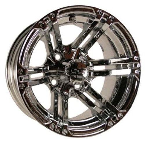 12x7 Chrome SS Specter Wheels (3:4 Offset)