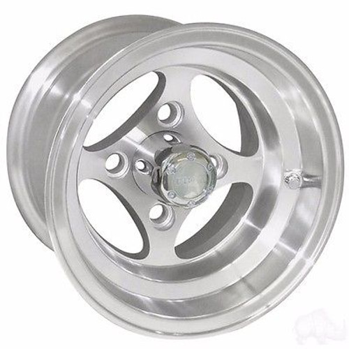 EZ GO TXT Golf Cart Wheels, Tires & Lift Package Rims Indy Machined 10""