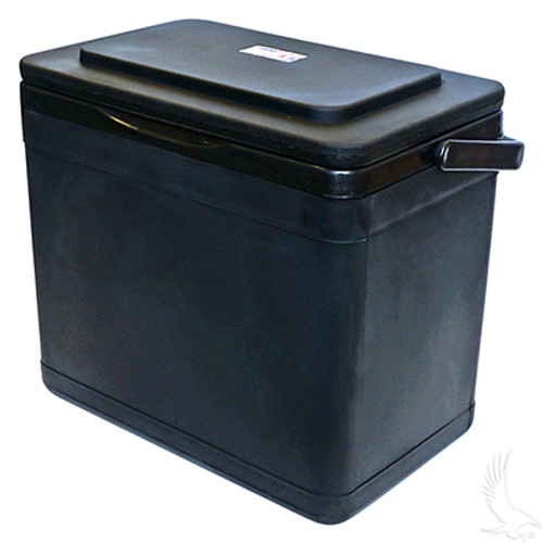 Insulated Large Capacity Black 11.75 Quart Cooler for Golf Cart