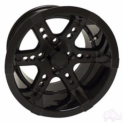 Yamaha Golf Cart Wheels, Tires & Lift Package Rims Black 12""
