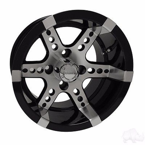 Yamaha Golf Cart Wheels, Tires & Lift Packages Rims 250 Machined, Black 12""