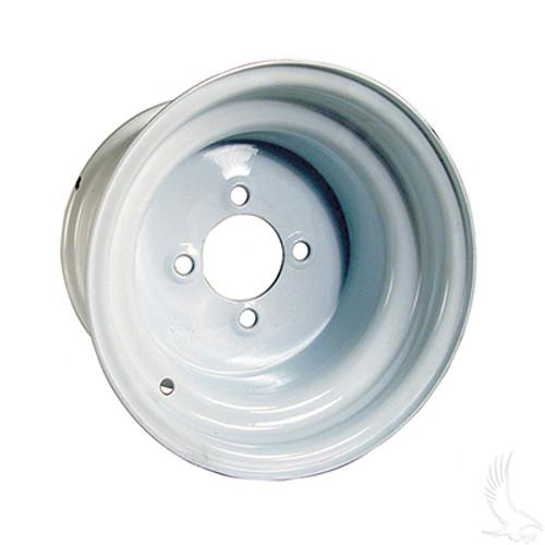 """10"""" Steel, White Wheel, 10x7 3:4 offset"""