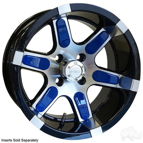 "14"" RHOX RX260, Machined w/ Black Wheel w/ Center Cap, 14x7 ET-25"