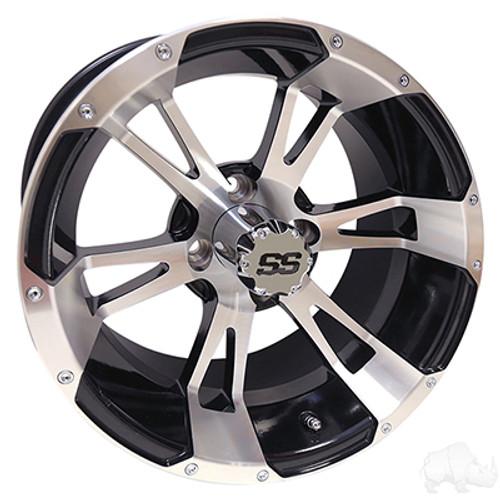 "14"" RHOX RX340, Machined w/ Black Wheel w/ Center Cap, 14x7 ET-25"