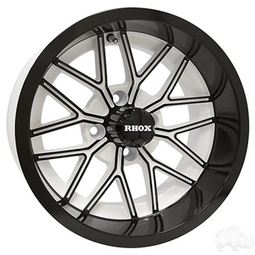 "14"" RHOX RX281, White with Gloss Black Wheel, 14x7 ET-25"