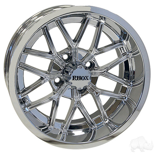 14 Golf Cart Wheel Chrome Rim 14x7 Et 25