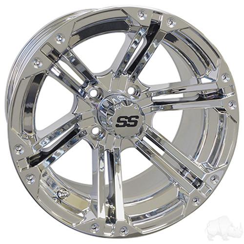 "14"" RHOX RX352, Chrome Wheel w/ Center Cap, 14x7 ET-25"