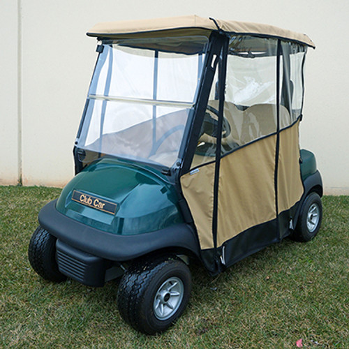Odyssey Over the Top 3-Sided Enclosure for Club Car Precedent in Beige