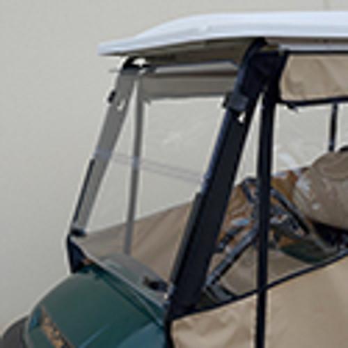 """Odyssey Enclosure in Beige for carts w/RHOX 88"""" Top, fits Club Car Precedent w/ rear seat"""