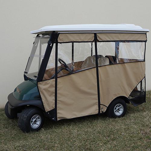 """Odyssey Enclosure in Black for carts w/RHOX 88"""" Top, fits Club Car Precedent w/ rear seat"""