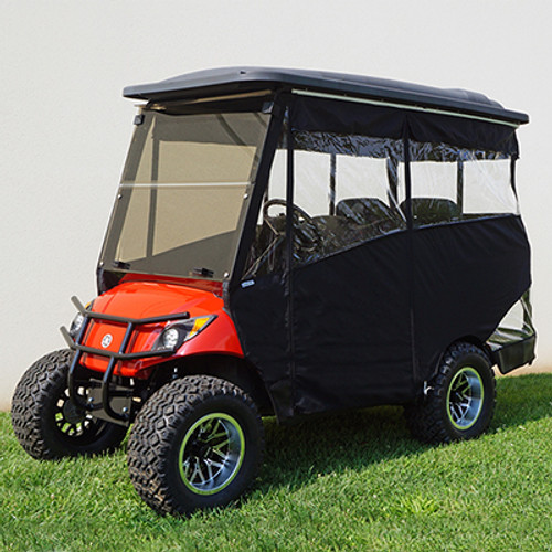"""Odyssey Enclosure in Black for carts w/RHOX 88"""" Top, fits Yamaha Drive w/ rear seat"""