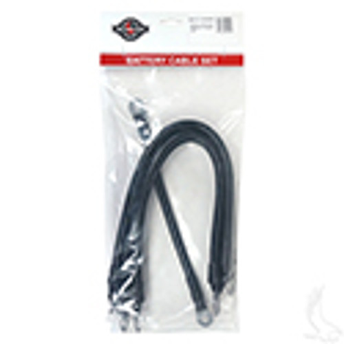 "Yamaha G22, 4 Gauge Battery Cable Set, Includes (1) 9"" (4) 16"" Black Cables"