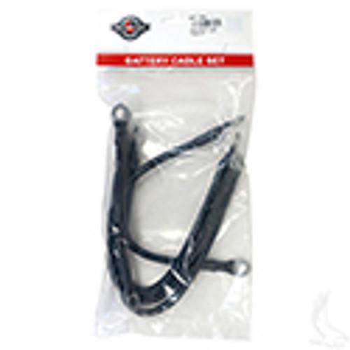 "Yamaha G19, 6 Gauge Battery Cable Set, Includes (2) 9"" (3)14"" Black Cables"