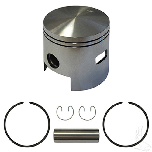 Piston and Ring Assembly, One Port +.25mm for E-Z-Go 2-cycle Gas 80-88