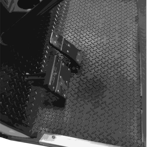 Replacement Diamond Plated Floormat for Club Car DS