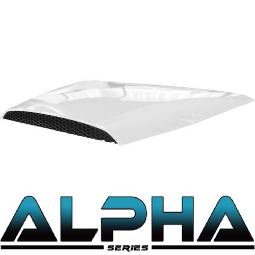 White Alpha Series Hood Scoop for Precedent