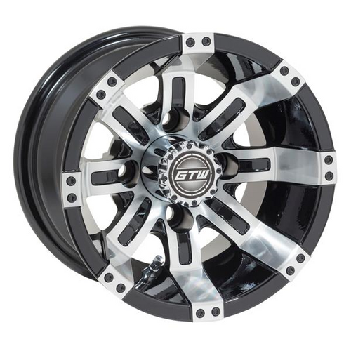 GTW Tempest 10x7 Machined Black Wheel