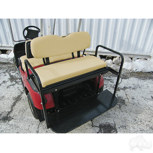 Yamaha G14-G22 Super Saver Rear Flip Seat Kit for Yamaha Golf Cart Tan Cushion