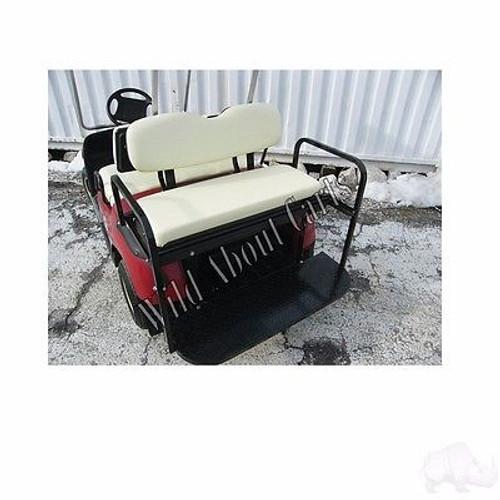 Yamaha G14-G22 Super Saver Rear Flip Seat Kit for Yamaha Golf Cart Ivory Cushion