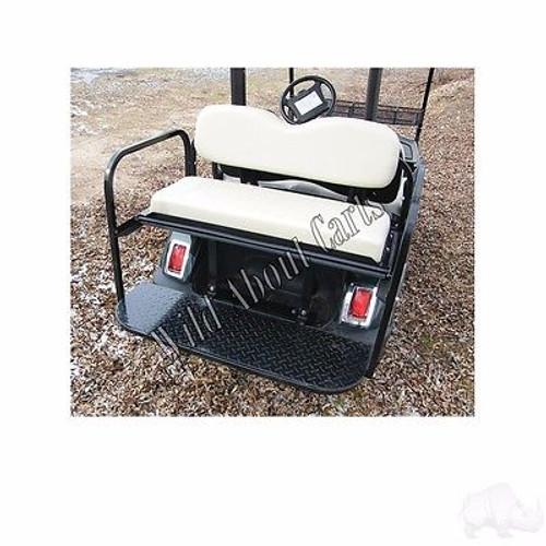Yamaha Drive Super Saver Rear Flip Seat Kit for Yamaha Golf Cart Black Cushion