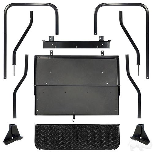 Club Car Precedent Super Saver Rear Flip Seat Kit for Golf Cart Black Cushion