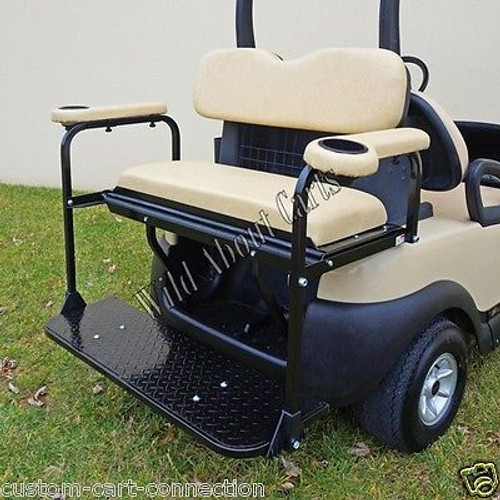Club Car Precedent Rear Seat Kit with Beige Cushions