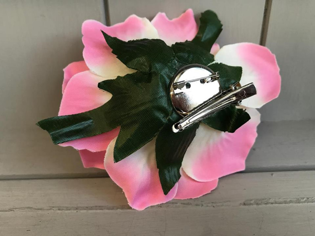 Pin Up Hair Roses with Brooch Attachment - Green