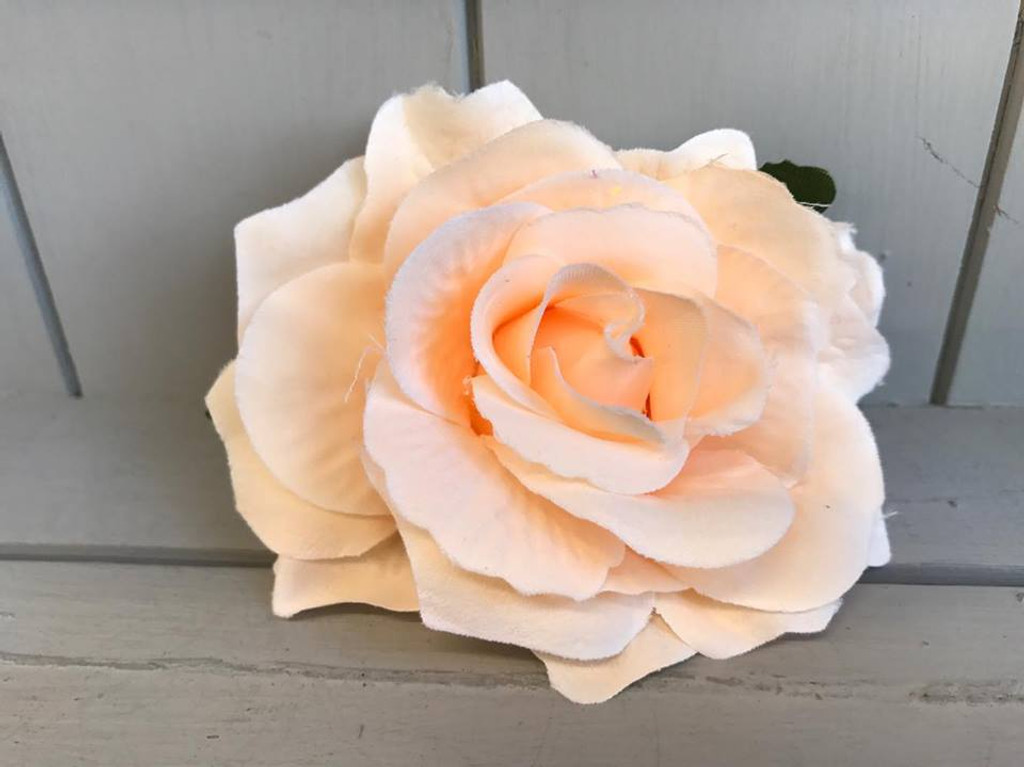 Pin Up Hair Roses with Brooch Attachment - Peach