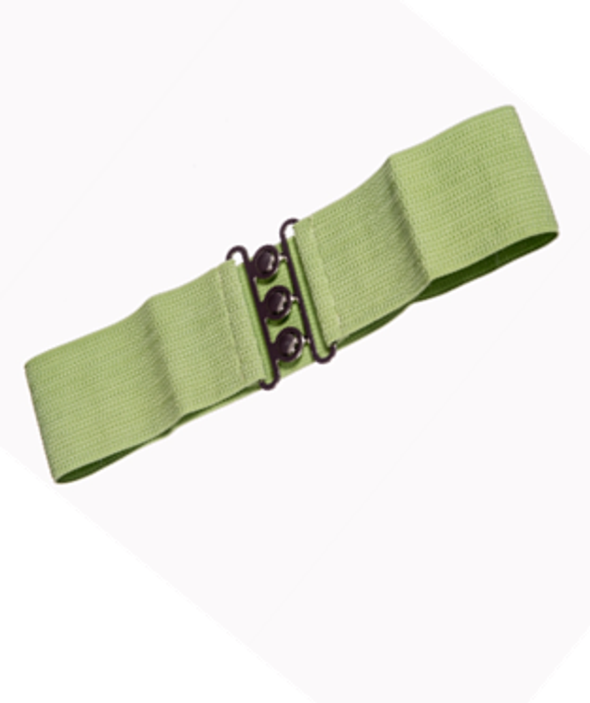 50S VINTAGE INSPIRED ELASTICATED WASPIE BELT Green BANNED APPAREL AT CERYS' CLOSET