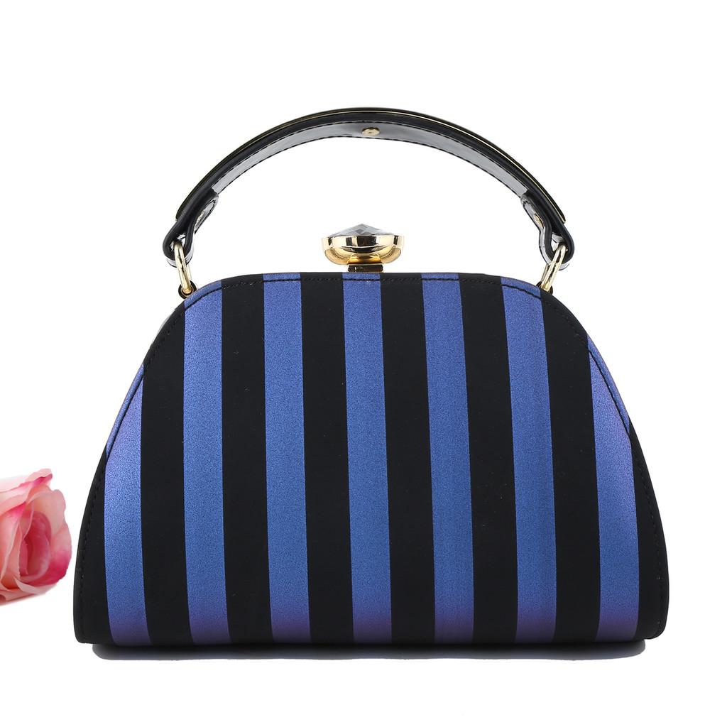 Luxury Black and Blue Handbag