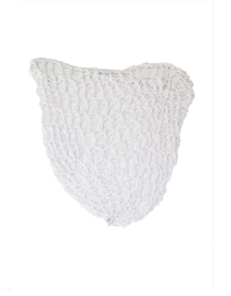 1940s Crochet Hair Snood Hair Net - White