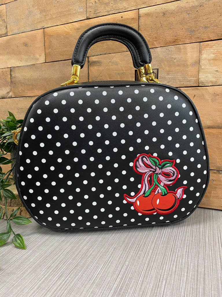Cherry and Polka Dot 50s Oval Handbag
