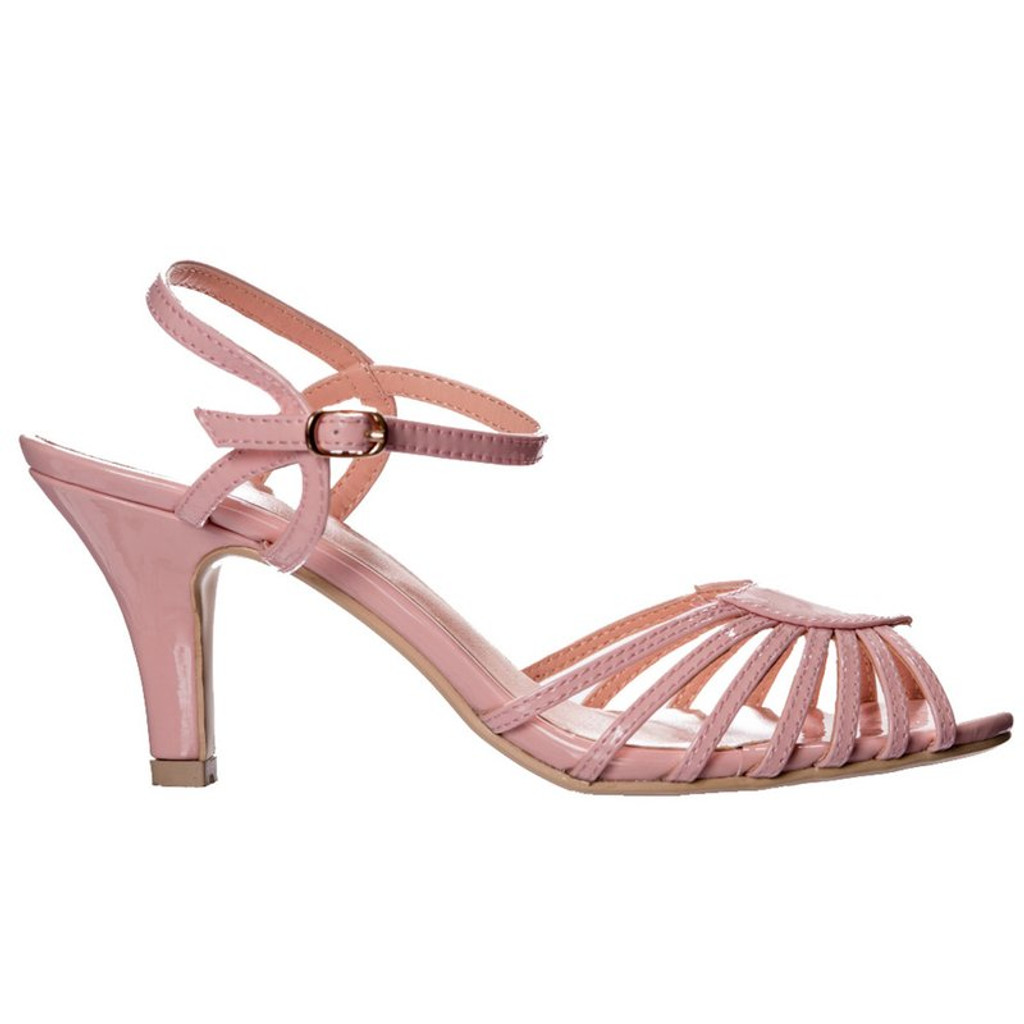 Dancing Days Amelia 1940s Retro Sandals - Pink
