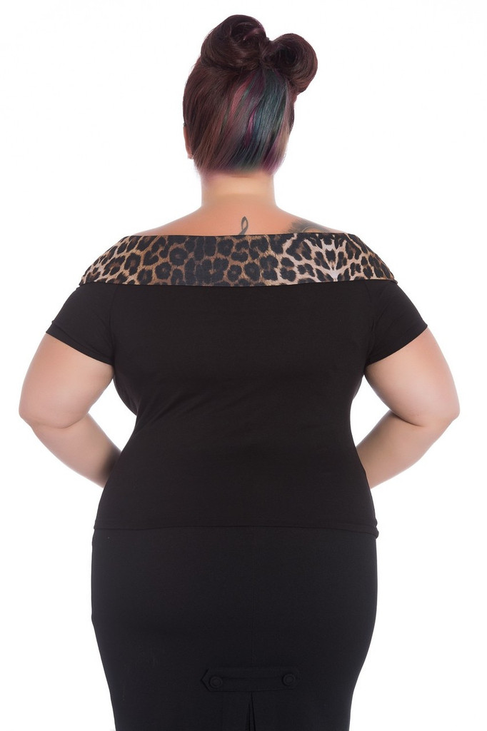 SALE Hell Bunny Panthera 50s Top