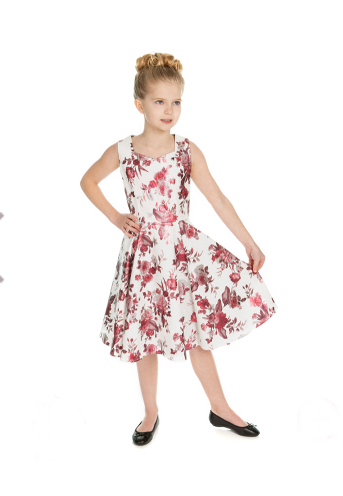 SALE Girls Vintage Dress - Shimmer Rose