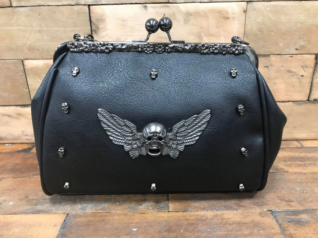 Large Winged Skull Handbag