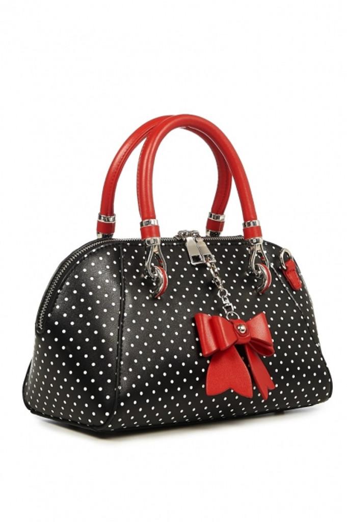 Polka Dot and Bow Handbag