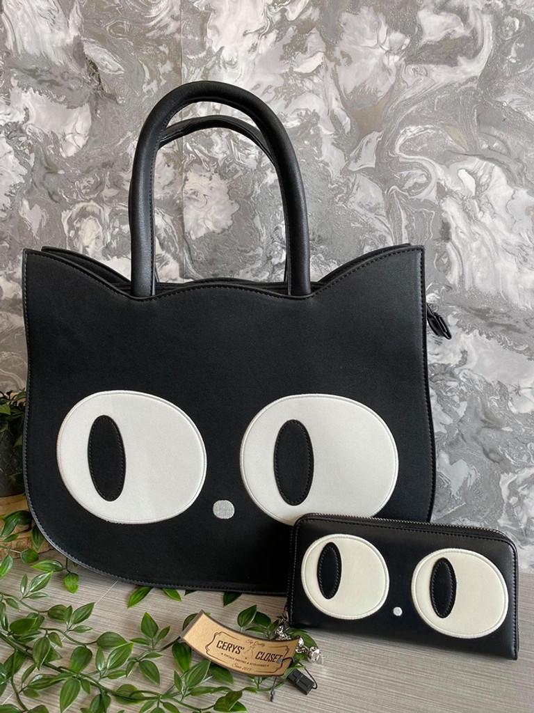 Heart of Gold Kitty Shaped Handbag and matching purses