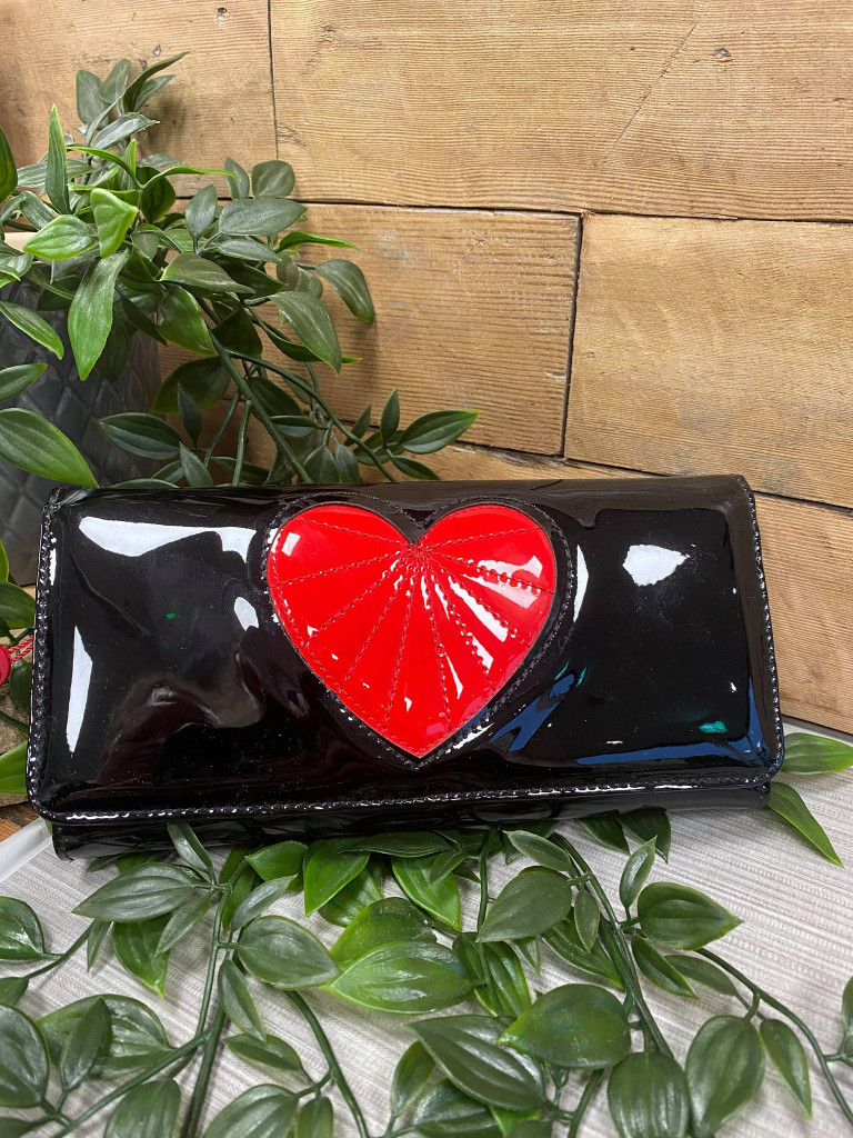 Black and Red Patent Heartbreaker Purse