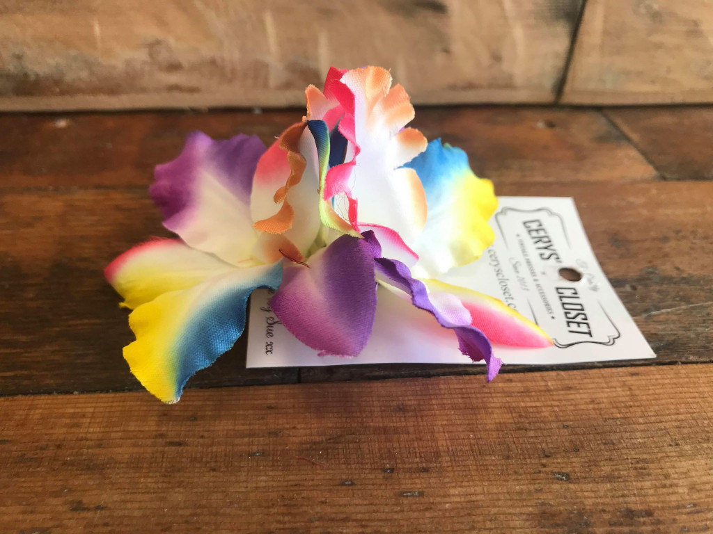 Double Lily Hair Flowers - Multi