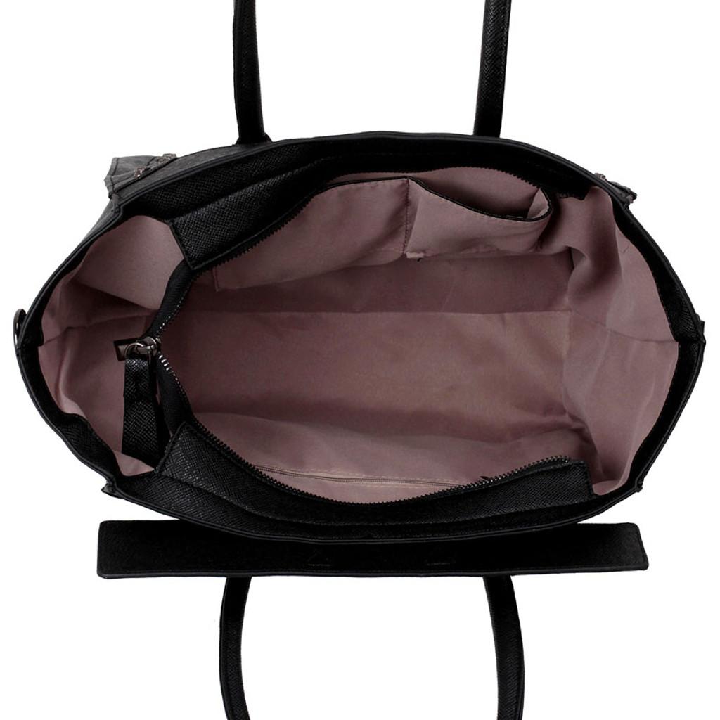 Skull Studded Tote Bag - Black
