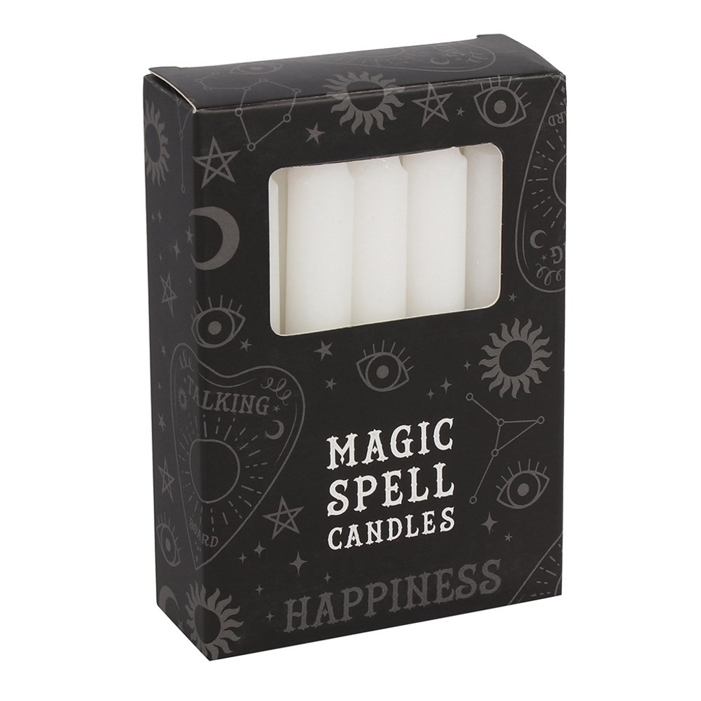 Spell Candles - White Candles For Happiness