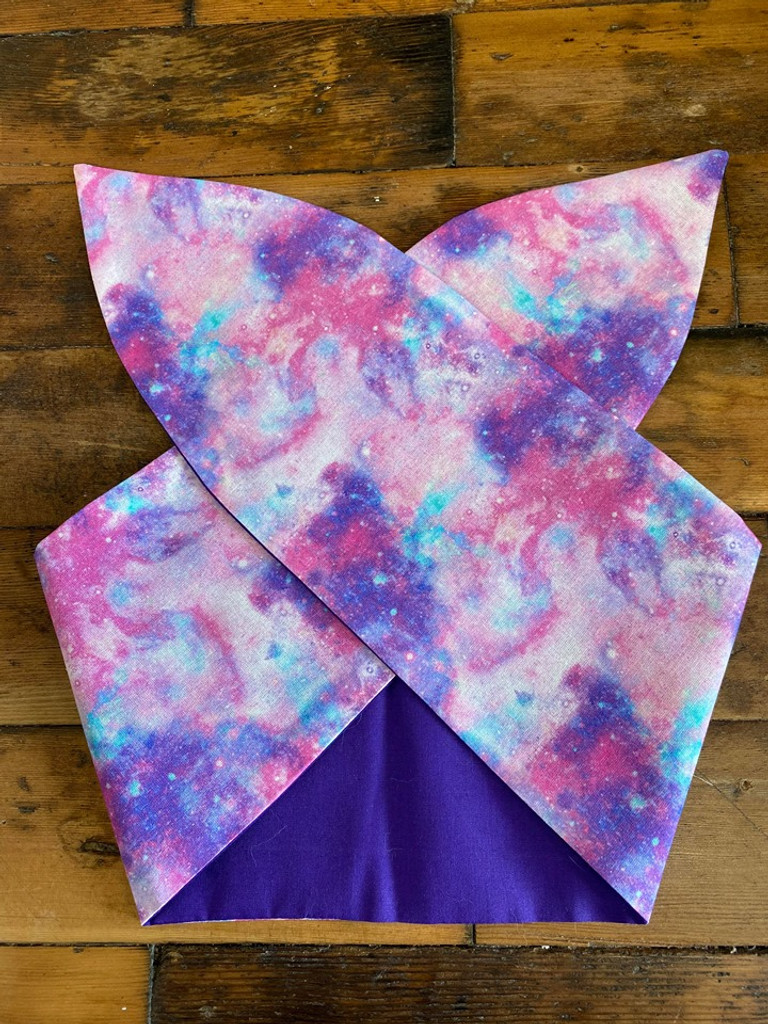50s Retro Inspired Wired Hairband Galaxy Print