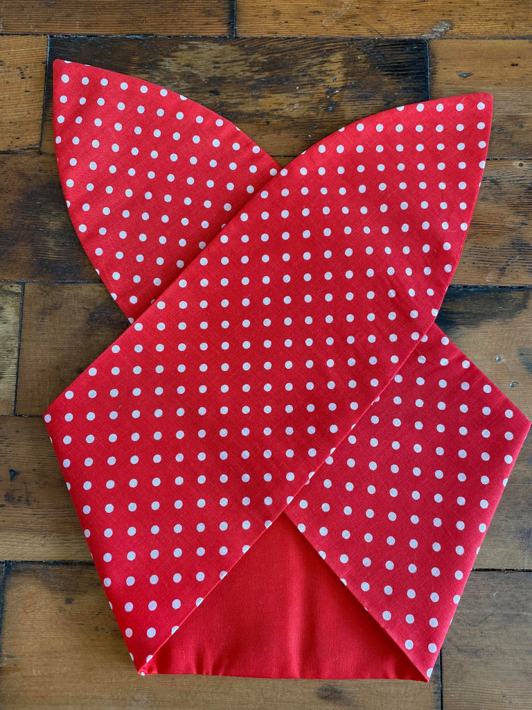 50s Retro Inspired Reversible Wired Hairband Red polka Dot and Plain red