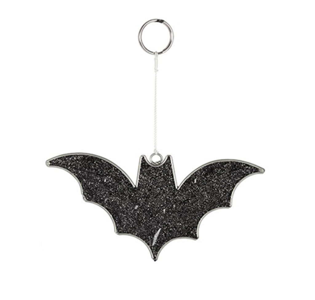 Black Glitter Bat Mini Suncatcher