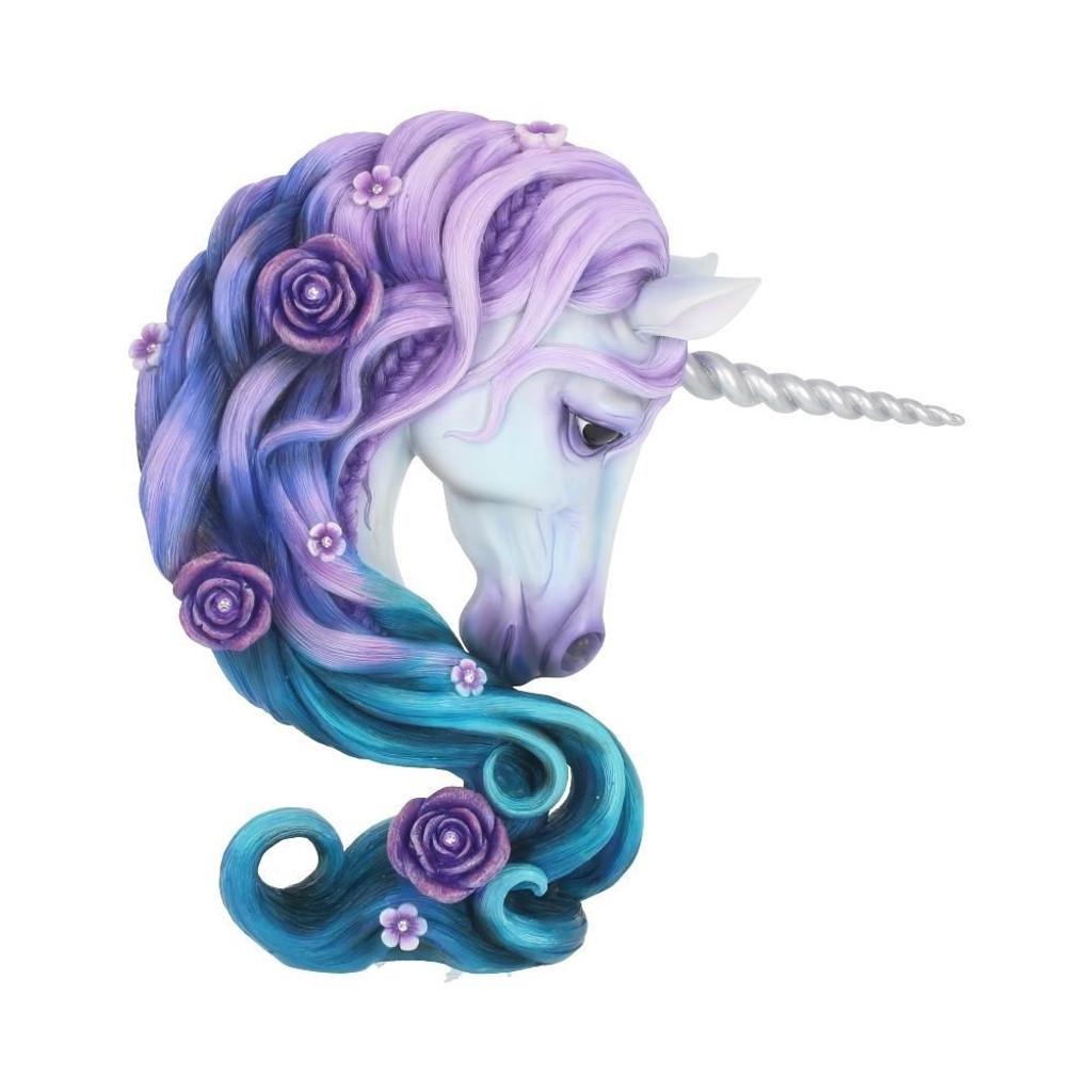 Stunning Pure Elegance Floral Unicorn 23cm Ornament