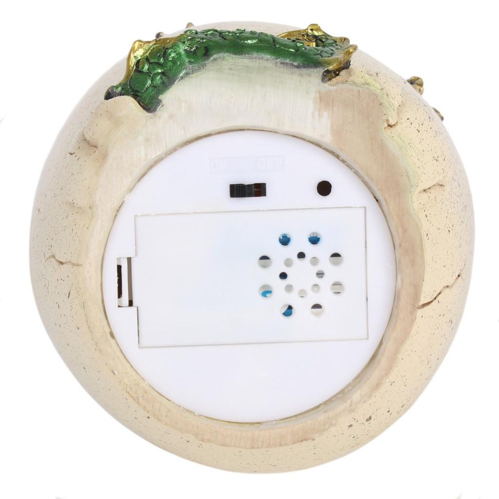 Backflow Incense Burner Dragon Egg with Green Dragon and Colour Changing LED